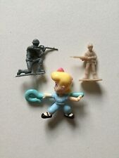 Disney Pixar Toy Story 4 Bow Peep Toy With Green & Tan Plastic Army Soldiers x2