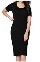 Ladies New SimplyBe Black Midi Bodycon Dress in Size in Plus Size 12 - 22
