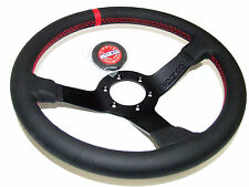 Sparco Steering Wheel - Champion (330mm/66mm Dish/Perforated Leather)