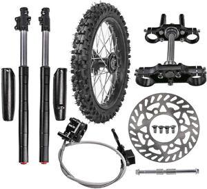 "14"" Wheel Kit 60/100-14 Tire Rim + Front Forks End Triple Tree For Dirt Pit Bike"