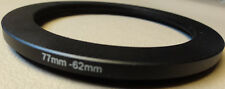 77mm to 62mm Step Down Lens Filter Ring Metal DSLR SLR Digital Camera Adapter