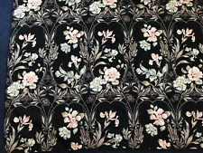 """Vtg Interlined Floral Table Cloth/Throw 52""""W X 42.5""""D"""