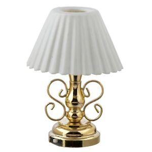 Light LED Ornate Table lamp 2303 replaceable battery dollhouse 1/12 miniature