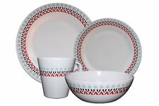 24-Piece Melamine Dinner Set Plates Bowl Mugs Family Picnic Outdoor Dining for 6