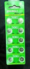 10 pieces / LR44/A76/357/AG13 Button Alkaline Battery 1.55V