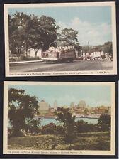 Vintage Postcard Lot CANADA - MONTREAL Observation Car & Glimpse of Harbour