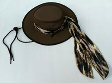 (Small) Conner BC Hats Cool As A Breeze Canvas Women's Hat Removable Scarf Brown