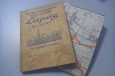 Wegweiser durch die Messestadt Leipzig und Vororte incl. Karte 1957