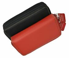 Mundi Genuine Leather Double Zipper Clutch wallet RIO