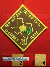 PATCH NCHA Camper HARLINGEN 18th TEXAS RETIREE RALLY TRAVEL SOUVENIR VTG. 5DB7