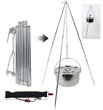 Coleman Tripod Grill & Lantern Hanger Outdoor Camping Cooking Fire Pit Hunting