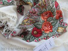 Winter Woolen scarf Russian Folk Pavlov Posad Shawl wrap kerchief 1696-0 Charmer
