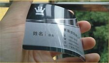 500 Custom PVC Plastic Ticket Gift Business Cards Printing - Glossy+Silver Pearl