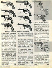 1963 ADVERT  Ruger Pistol Single Six Blackhawk .357 Magnum Astra Smith & Wesson
