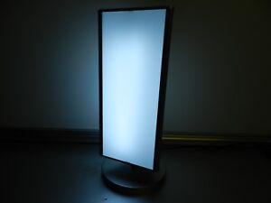 LED Leuchtsäule dreiseitig mit Motor drehbar 40 x 19 cm Leuchtkasten Lichtsäule