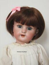 """perruque courte-Tête20/21cm-poupée ancienne-moderne-Doll wig head sz8"""""""