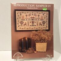 Homespun Elegance Reproduction Sampler IV Cross Stitch Pattern Strawberry Border