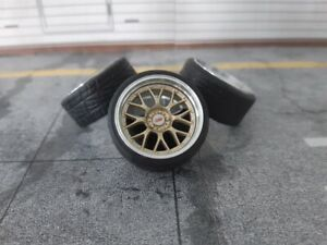 1:18 Scale BBS RS-GT 18 INCH REAL ALU WHEELS, NEW! several colors available!