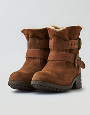 CAT Footwear by Caterpillar Brown Sherpa Buckled Jory Boots Size 9 NWOB $100