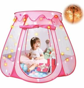 Princess Castle Play House Kids Play Tent for Girl Ocean Ball Pit Pool Tent Home