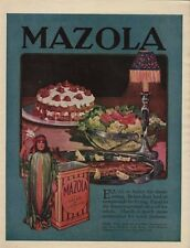 Beautiful 1920 Full Page Color Advertisement - Mazola Salad & Cooking Oil