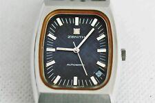 orologio zenith automatico datario anni '80 uomo  acciaio