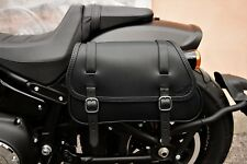 FOR HARLEY DAVIDSON SOFTAIL FAT BOB 2018 SADDLEBAG ITALIAN LEATHER QUALITY&STYLE