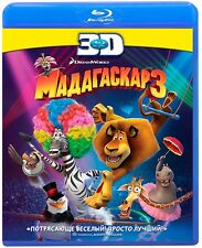 Madagascar 3: Europe's Most Wanted 3D  (Blu-ray Disc, 2012, only 3D) RegionFREE