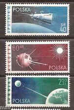 Poland yv # 992/994 mnh set. space/asrofilatelia