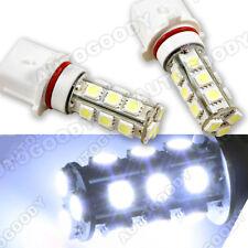 2x White P13W LED Bulbs 18-SMD 5050 Camaro Fog Lamp Driving Light
