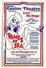 1970'S Original DAMES AT SEA (PALM SPRINGS) Theatre ADVERTISING  Poster 14 X 22