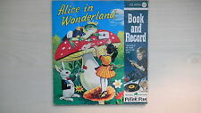ALICE IN WONDERLAND Peter Pan Book & Record 45rpm 50s