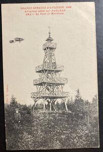 1909 Spa Belgium Real Picture postcard Cover To The Hague Belgium Paulhan Pilot