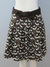JACOB Size 1/2 Brown Fully-Lined Pleated Full Skirt