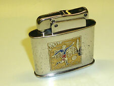 KW (KARL WIEDEN) AUTOMATIC POCKET LIGHTER WITH FOOTBALL MOTIF - 1951 - GERMANY