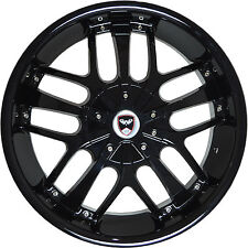 4 GWG Wheels 18 inch Black SAVANTI Rims fits HONDA CR-V 2000 - 2018