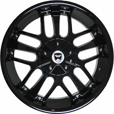 4 GWG Wheels 18 inch Black SAVANTI Rims fits CHEVY MALIBU LTZ 2008 - 2012