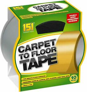 CARPET TO FLOOR TAPE 10M Double Sided Strong Reliable Adhesive Carpets Flooring