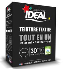Kit complet Teinture tout en un Mini Noir textile tissu Ideal 230 gr