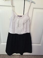 TEMT BLACK AND WHITE LACE DRESS SIZE SMALL