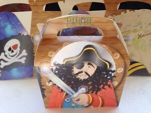 12x - PIRATES - CAPTAIN -BOYS - PARTY - KIDS BOXES - CANDY - SWEETS - TOYS -new