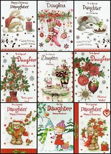 'DAUGHTER' CHRISTMAS GREETING CARD - QUALITY - MULTIPLE DESIGN'S - FREE P&P