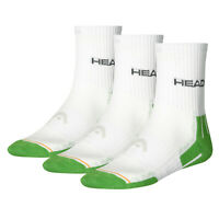 HEAD Sports Socks UK 2.5-5 Boys Womens Performance Short Crew (3 Pair Pack)