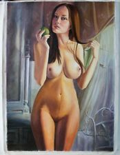 Art Oil painting on Canvas, Nude Girl Woman, canvas 20 × 28 inches