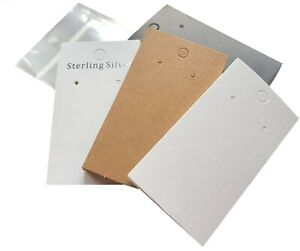Jewellery Display Cards With Self Adhesive Bags For Earrings ~ 9cm x 5cm