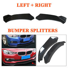 One Pair L+R ABS Winglet Type Front Bumper Lip Diffuser Side Skirts Splitters