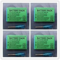 4PCS 850mAh 3.7V Rechargeable Battery For Nintendo Gameboy Advance SP Controller