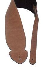 Gitarrengurt 10 cm breit, außen grobes Glattleder honey innen Wildleder schwarz
