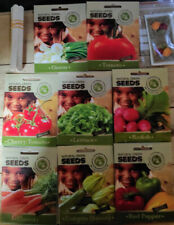 10 SEED PACKS VEGETABLES SEEDS GIFT BOX PACK 100% ORGANIC NON-GMO FREE SHIPPING