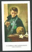 Estampa de San Gabriel de la Dolorosa santino image pieuse andachtsbil holy card